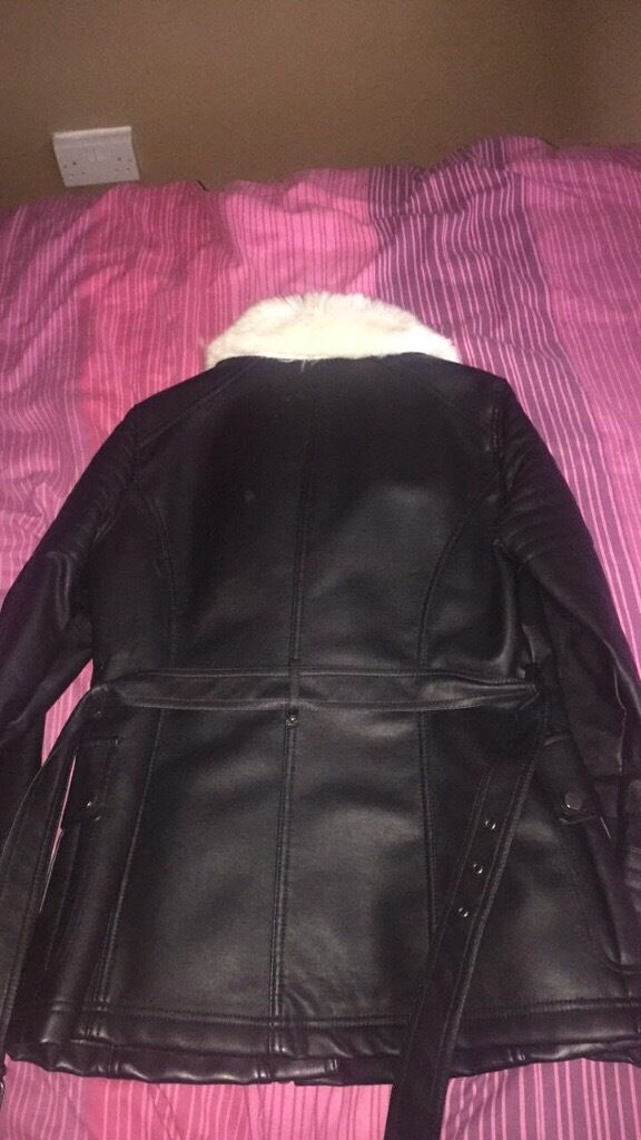 Leather jacket from wallis, never worn, size 12in Norwich, NorfolkGumtree - Leather jacket from wallis Never worn, brand new Size 12 Was £180 but want £50