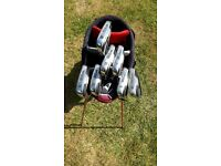 Wilson Deep Red Irons, Wilson Putter and Nike Bag