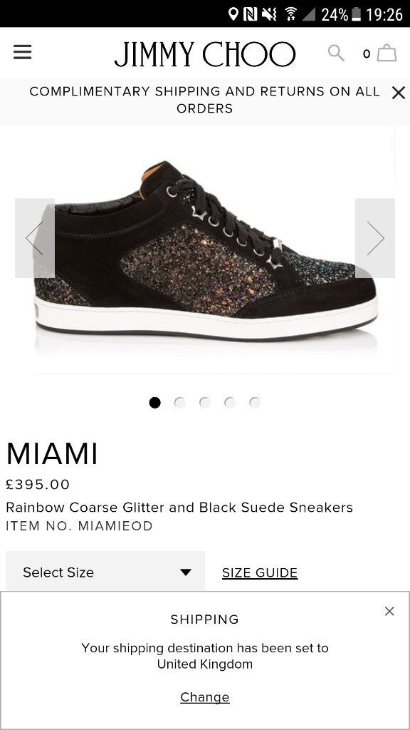 Jimmy choo miami trainers. Brand new with box and bags unwanted gift size 6.