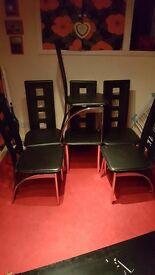 6 black chairs