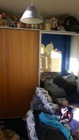 Large Ikea Pax Mirrored Wardrobe with Sliding Doors