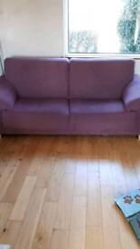 Purple 3 seater sofa