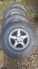 BFG Goodrich All Terrain 4x4 tyres From Vauxhall Frontera with alloys