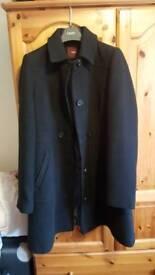 NEXT Ladies black coat size 8