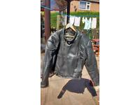 Heavy Leather Biker Jacket, sixe 50, in excellent condition