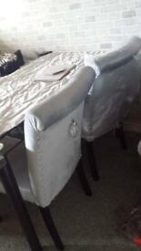 Velvet Knocker Chairs 4/6