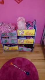 Peppa Pig storage baskets and shelf