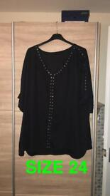 Black studded top