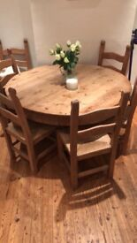 Handmade Oak Dining Table and 6 chairs