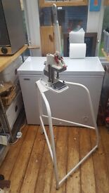 Industrial Hand Operated Chip Chopper and Stand