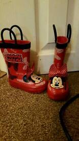 Minnie mouse wellingtons size 4