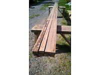 8x timber / wood battens believed to be cedar wood