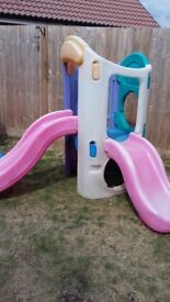 Little tikes climb and double slide