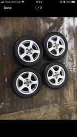 "14"" alloy wheels . Pcd of 4x100 . C1/corsa"