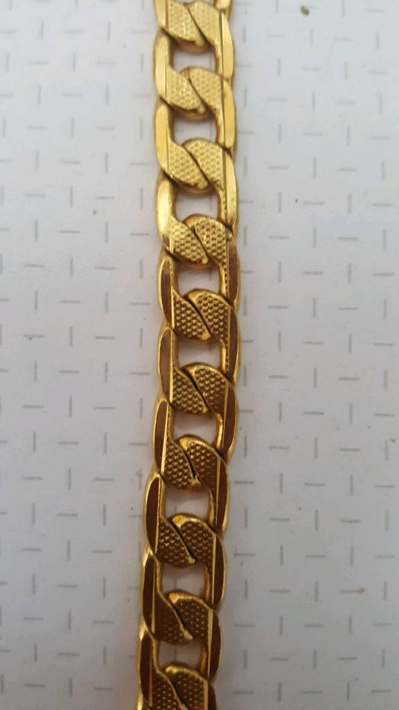 rolled gold mens necklace