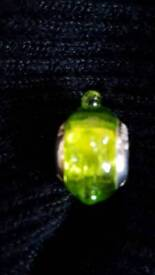LOVELINKS SILVER& LIME MURANO GLASS CHARM - BRAND NEW