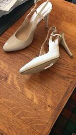 Beige. Size 7. M&S Limited Edition slingbacks