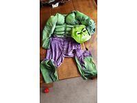 Hulk marvels costume 6-7 yrs