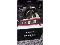 Canon EOS 7D 18.0MP Digital SLR Camera - Black (Body only) Plus 4GB - CF Memory Card