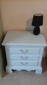 SHABBY CHIC PAIR OF BEDSIDE CABINETS, VERY STURDY