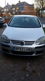 Silver VW golf 1.6l. - part service history. 1800£ ONO