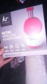 Kitsound. metro wireless headphones brand new in box