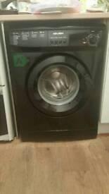 Bush, black washing machine