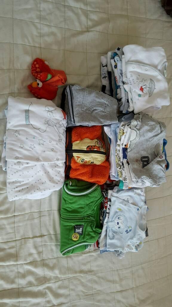 Boys clothes bundle 0-3. 3-6. 6-9 months. 50 items .