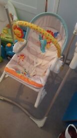 Baby bouncer, rocker and swing