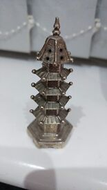Antique Silver Pagoda spice shaker