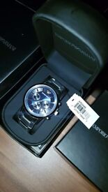 Mens Emporio Armani AR2448 Stainless Steel Chronograph Watch