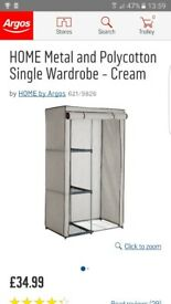 Single canvas wardrobe