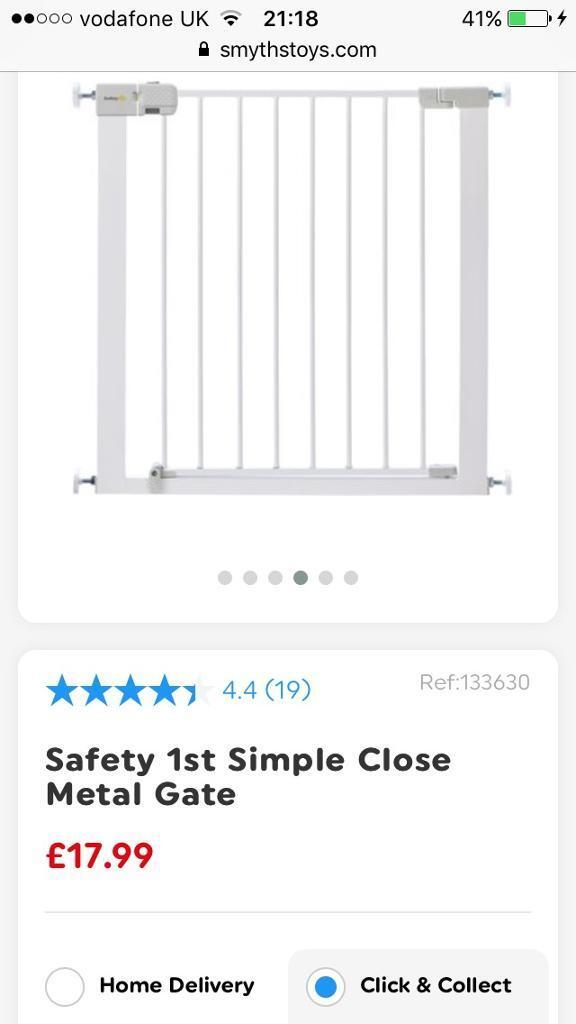 Lindam Baby Gate Metal Safety First In Stoke On Trent