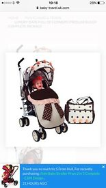 I safe lots of flowers pray buggy with footmuff bag etc