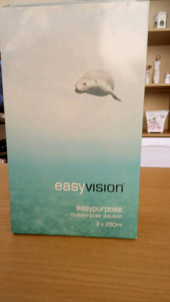 Contact Lens Solution and Casesin Poole, Dorset - Three 250ml bottles of Specsavers Easy vision multipupose solution and three cases