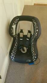 Forward facing/reclining car seat