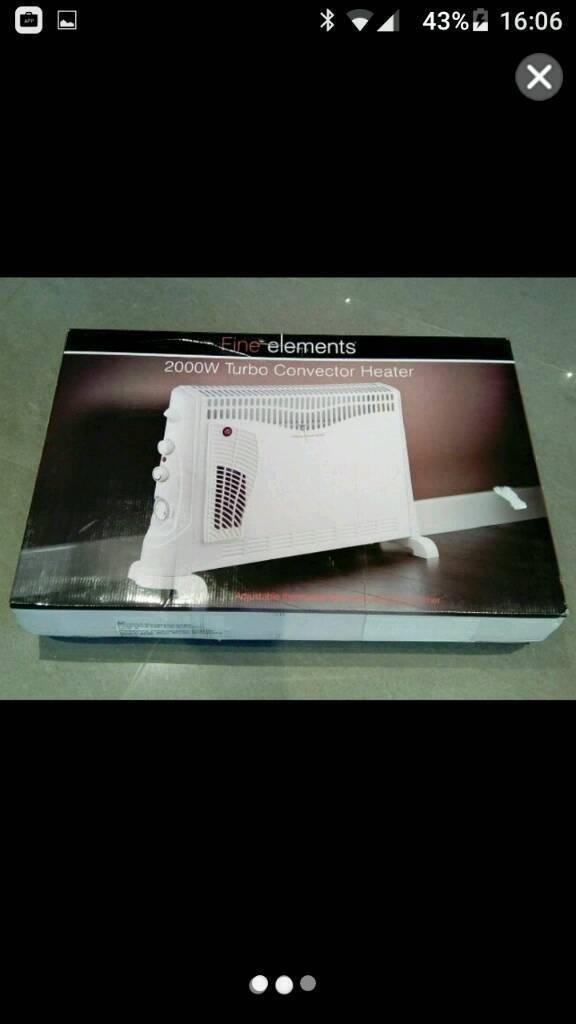 Turbo convector heater 2000W, unused