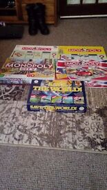 Board games monopoly × 4 and save the world game