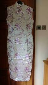 Oriental dress with matching slippers