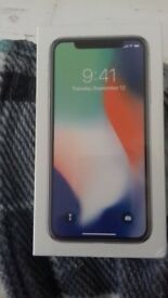 Iphone X 64 gb Silver brand new unopened