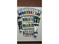 Job Lot of Reeves & Daler Rowney Acrylic Paints New and Used + Screen Drawing Fluid