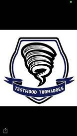 Football team new for 2017 2018 season Testwood Tornadoes .