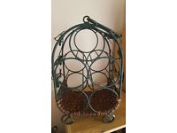 Decorative ivy leaf wine rack