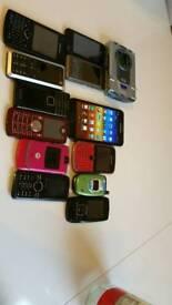 Joblot of various phones untested