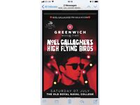 Noel Gallagher Greenwich Tickets