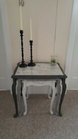 Beautiful nest of 3 tables, Shabby Chic, Hand Painted in chalk paint