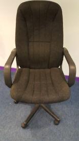 Fabric Office Chair in dark grey