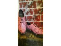 Doc Martens limited edition pink floral lace up shoes
