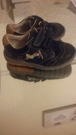 Toddlers size 4.5 boys clarks shoes