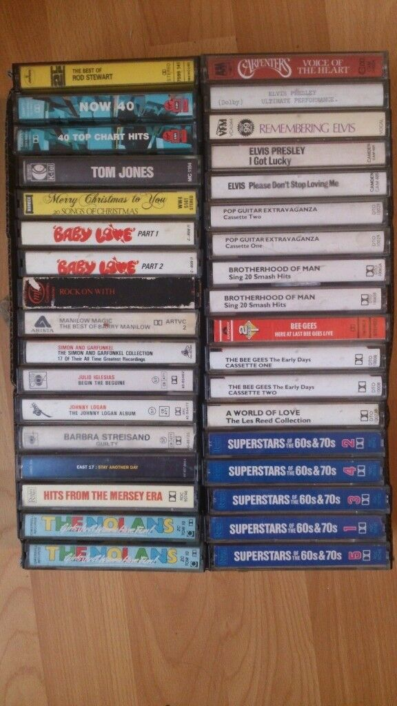 100 music cassettes tapes